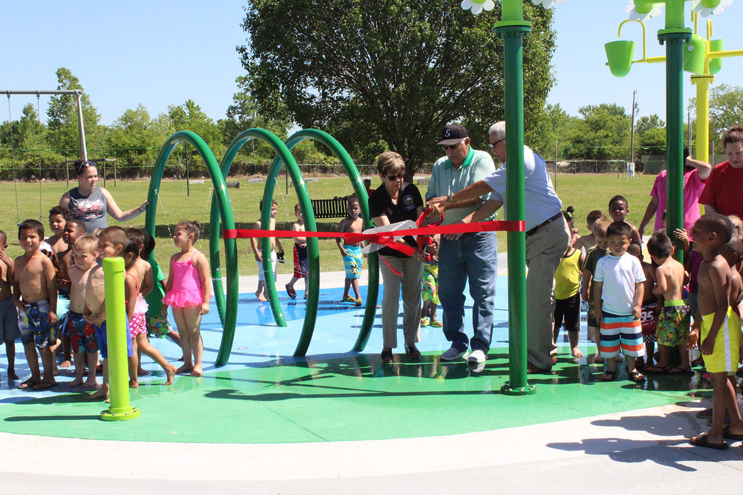 Muscogee (Creek) Nation Holds ribbon Cutting for Splash Pad