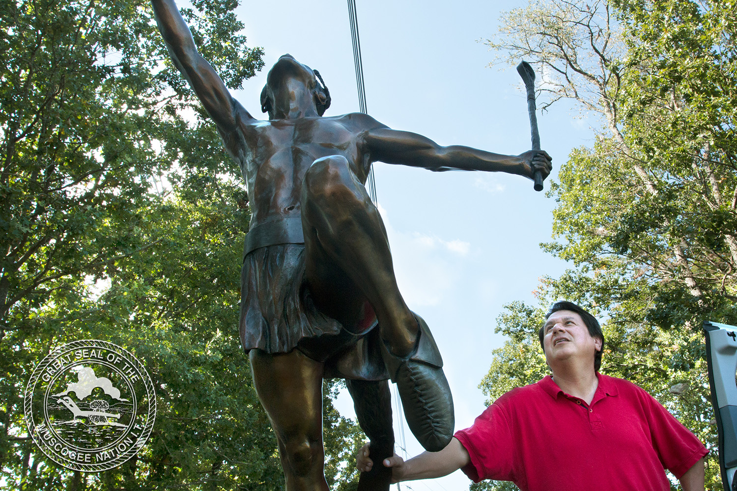 Muscogee (Creek) Nation, Native American Nations recognized with commemorative statue