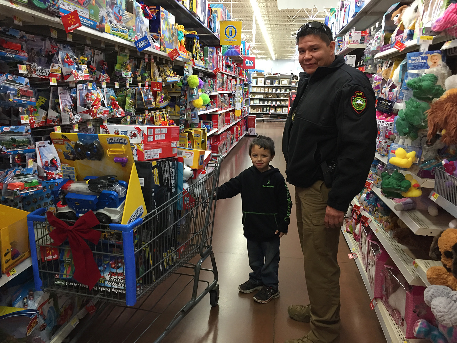 Muscogee (Creek) Nation Lighthorse Police participates in 4th Annual Shop with a Cop