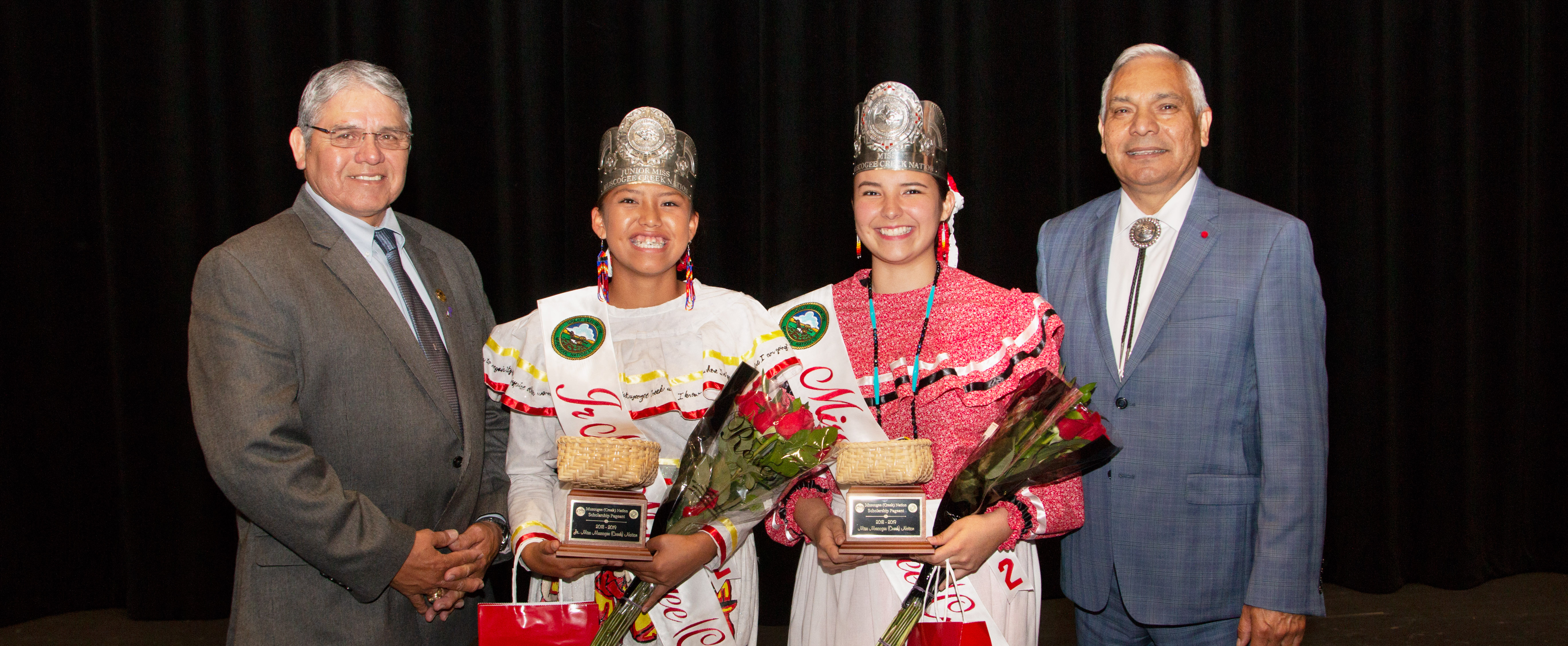 Muscogee (Creek) Nation Scholarship Pageant Names 2018-2019 Miss and Jr. Miss Muscogee (Creek) Nation