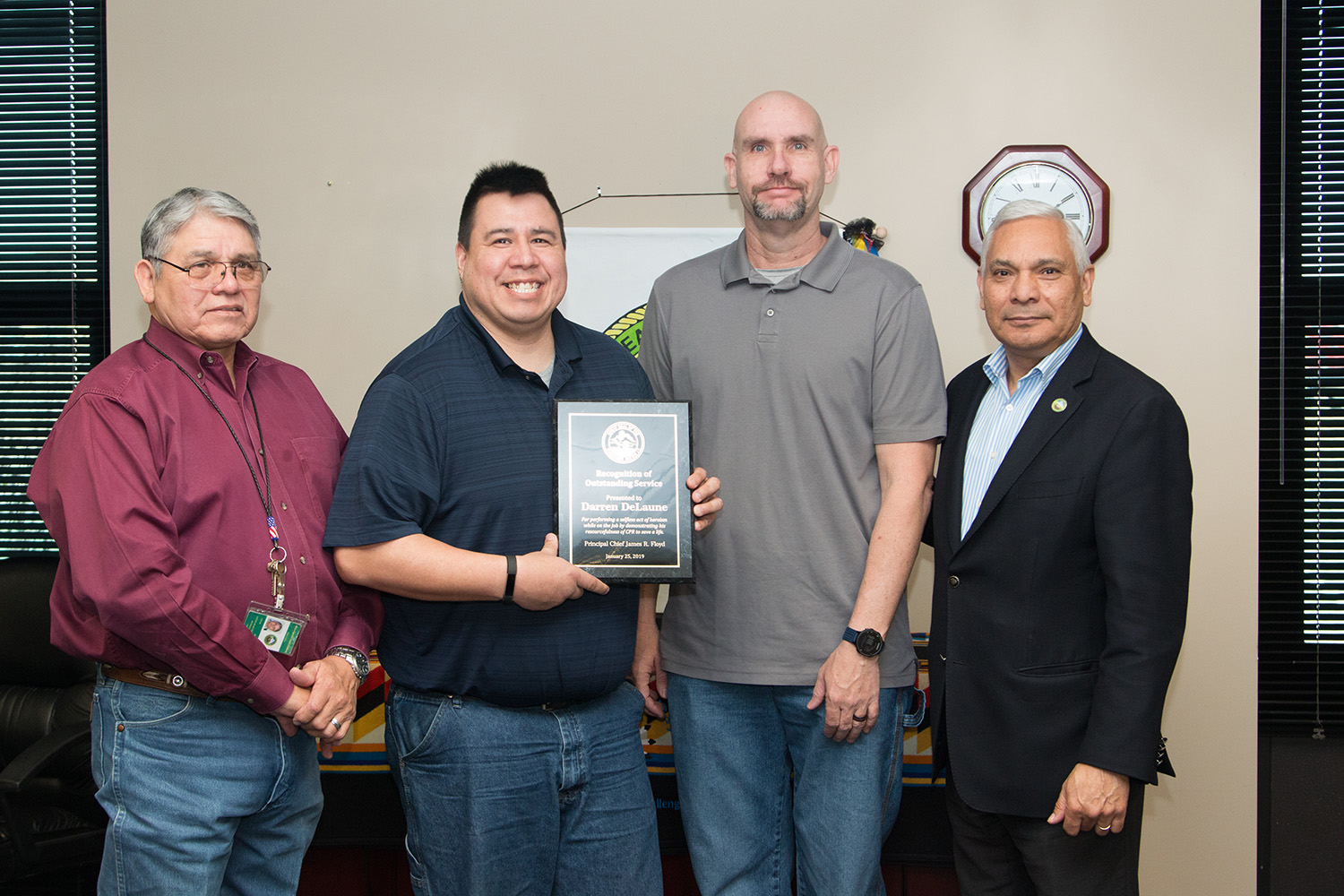 Muscogee (Creek) Citizen, Employee Recognized for Saving Citizen's Life