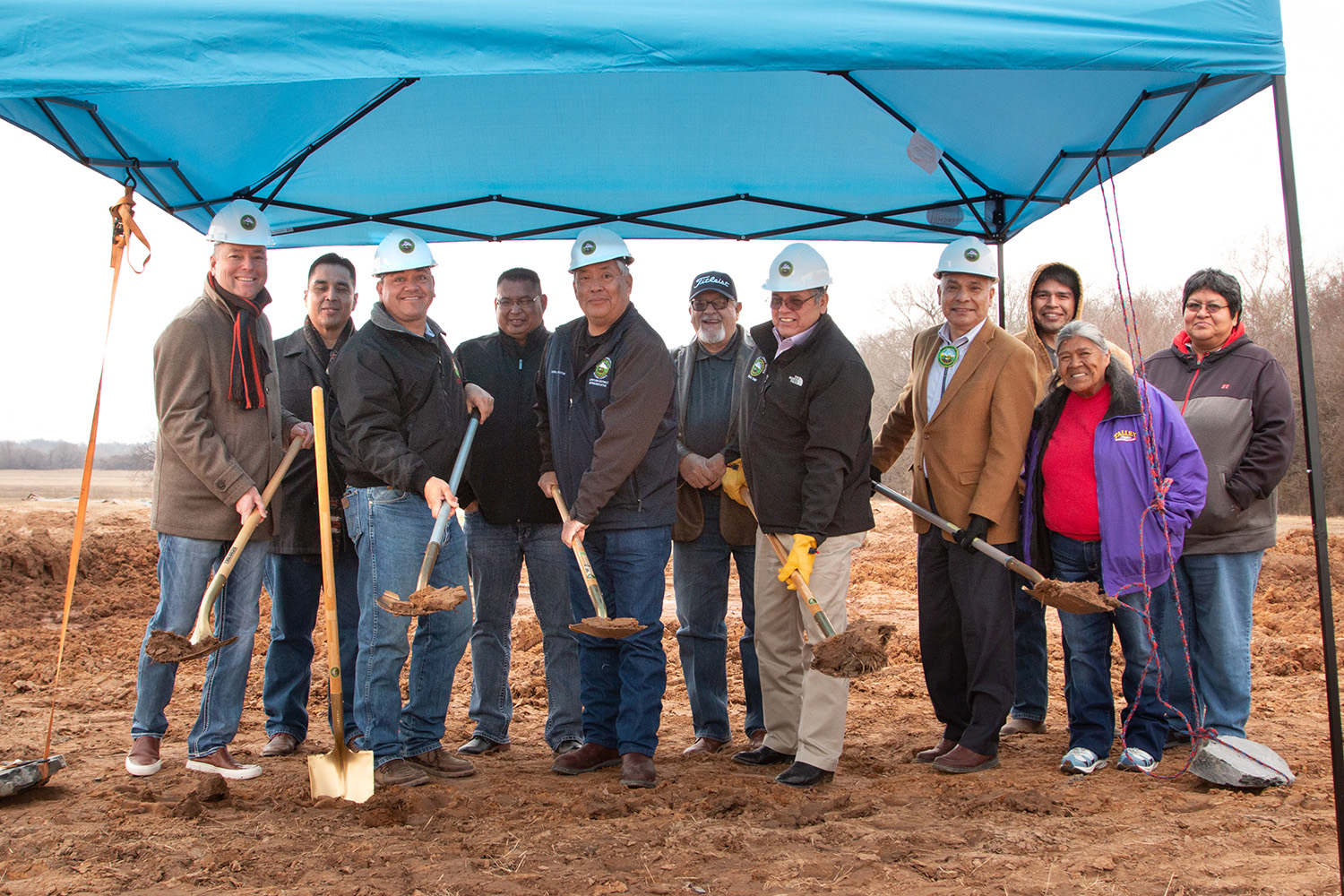 MCN  Celebrates Hanna Indian Community Center Groundbreaking, Construction of Nation's First Prototype Community Building