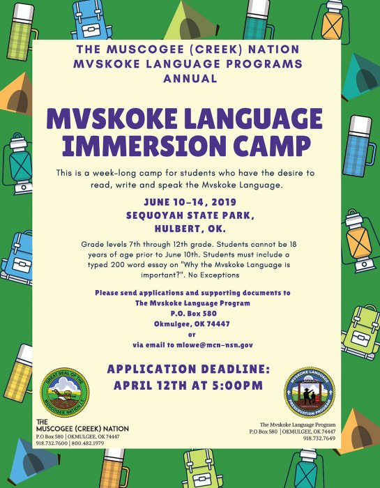 Immersion Camp 2019 Flyer