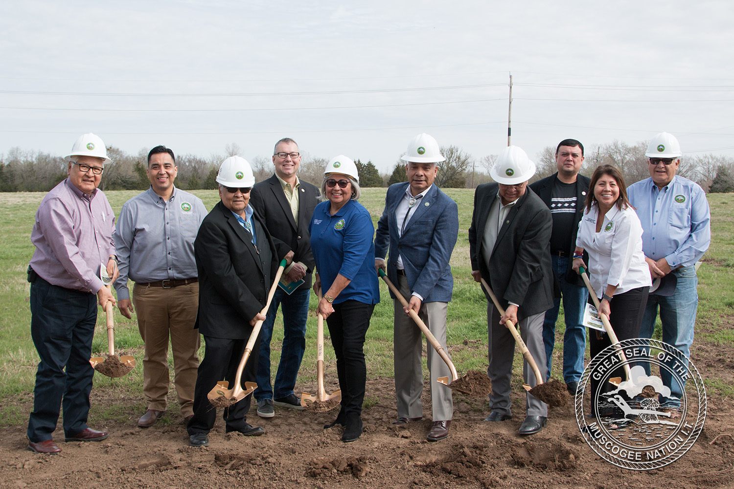 Muscogee (Creek) Nation Holds Three Ponds Elder Housing Community Groundbreaking Ceremony