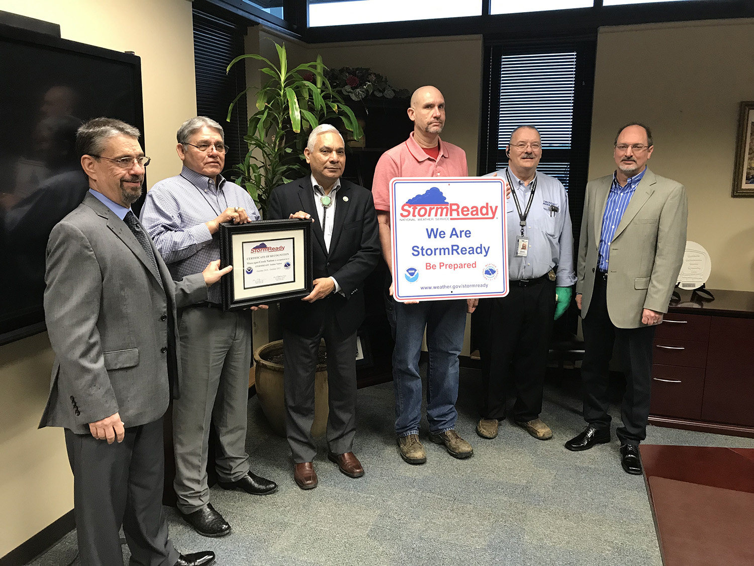 National Weather Service Recognizes Muscogee (Creek) Nation as StormReady Tribal Nation