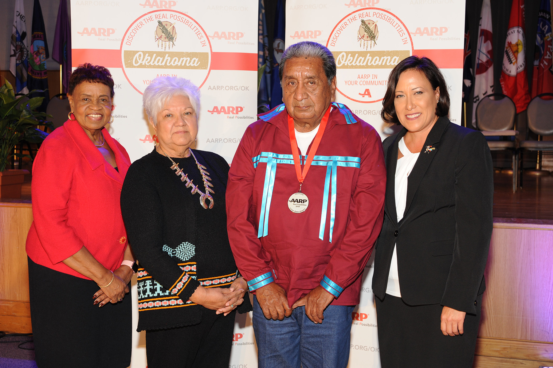 AARP Oklahoma honors Muscogee (Creek) elder, ceremonial leader