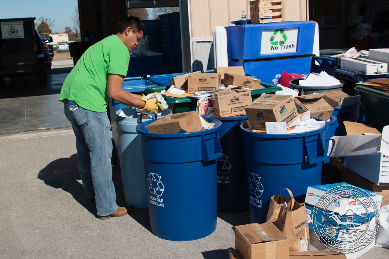 Muscogee (Creek) Nation promotes recycling in community