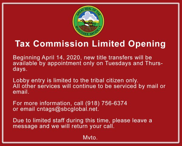 tax commission sign